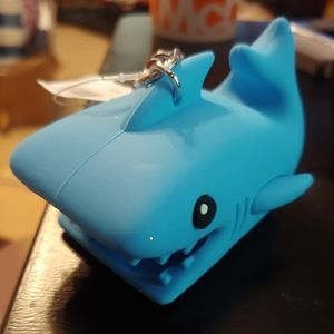 Blue shark pocketback holder